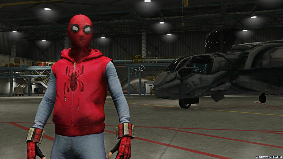 Spider-Man Home-Made Suit (Fixed shaking issue) 1.2 для GTA 5