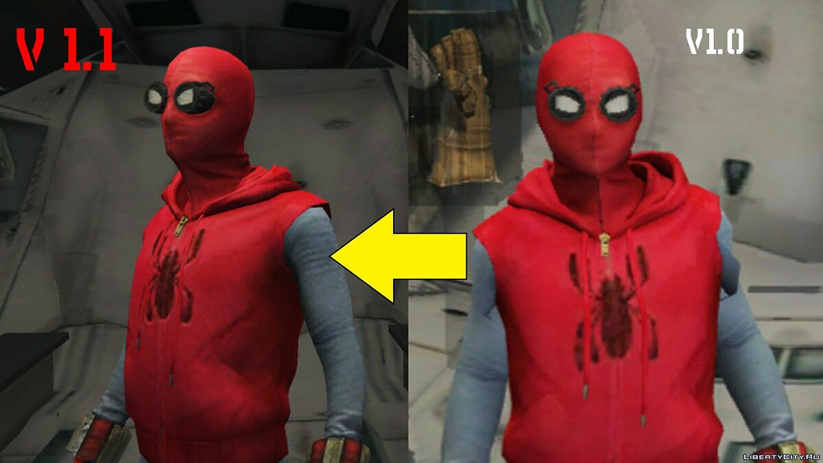 Spider-Man Home-Made Suit (Fixed shaking issue) 1.2 для GTA 5 - скриншот #2