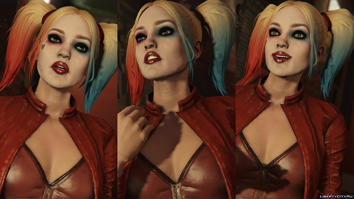 ��овый персонаж Harley Quinn Injustice 2 [Add-On Ped/Replace] v1.0 для GTA 5