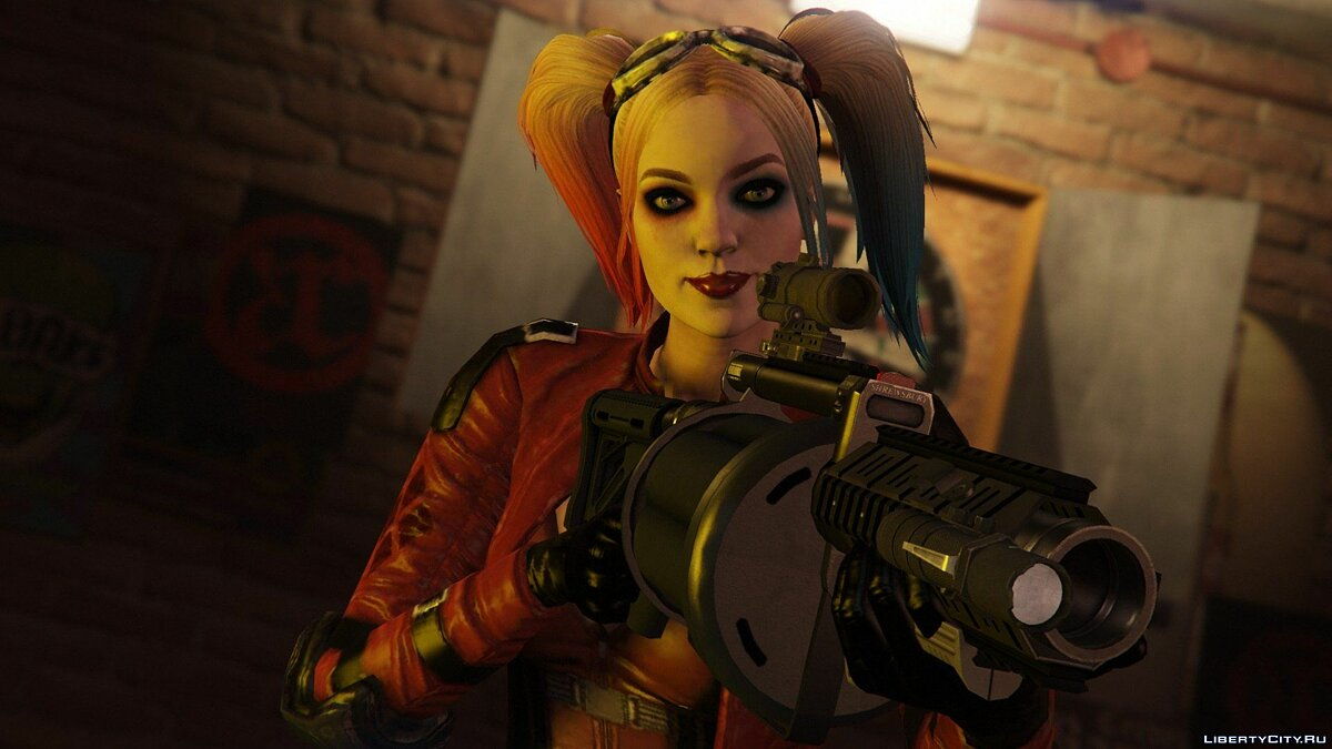 Harley Quinn Injustice 2 [Add-On Ped/Replace] v1.0 для GTA 5 - скриншот #11