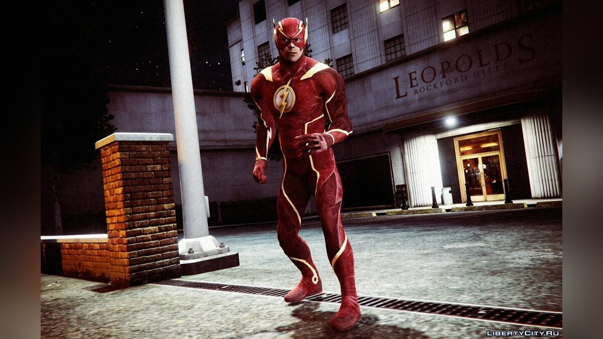��овый персонаж The Flash from Injustice 2 [Add-On Ped] для GTA 5