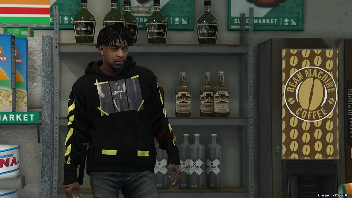 21 Savage | *Replace Player* V2.1 для GTA 5 - Картинка #1
