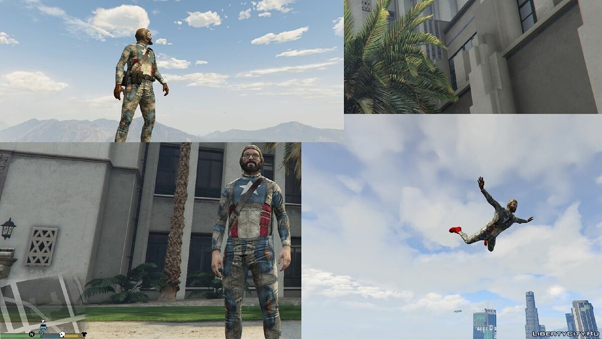 HD Captain America для GTA 5
