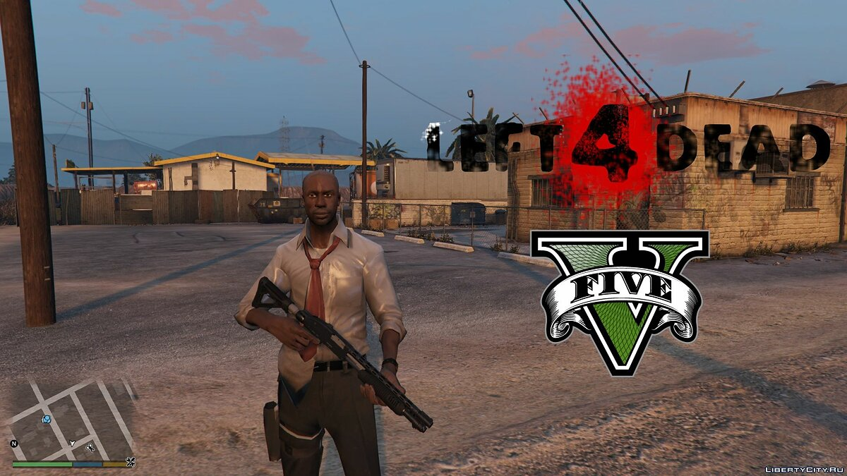 Left4Dead Louis [Add-On Ped] 1.0 для GTA 5