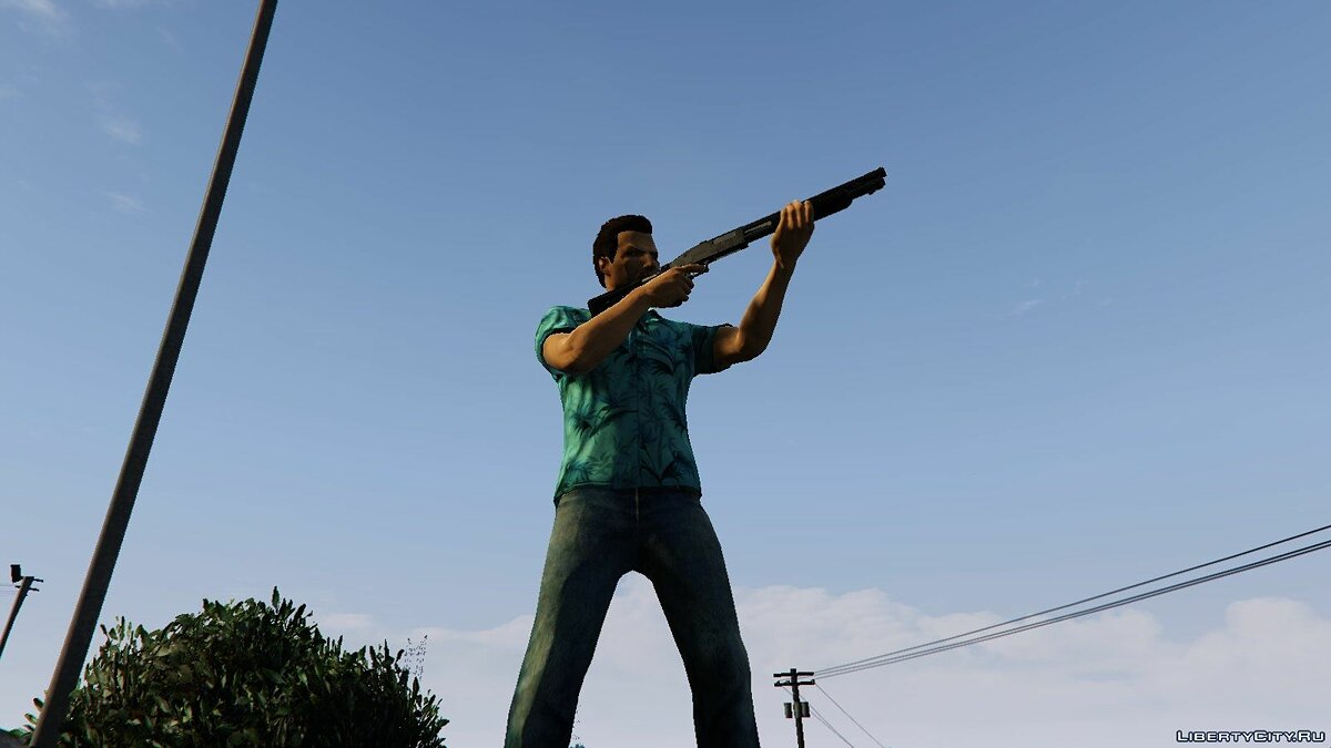��овый персонаж Tommy Vercetti for male multiplayer (arms fix) 2.0 для GTA 5