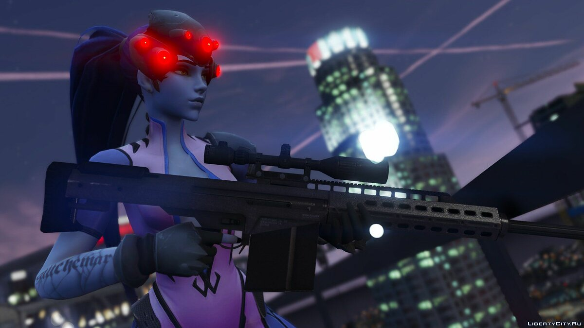 Widowmaker from Overwatch для GTA 5 - скриншот #13
