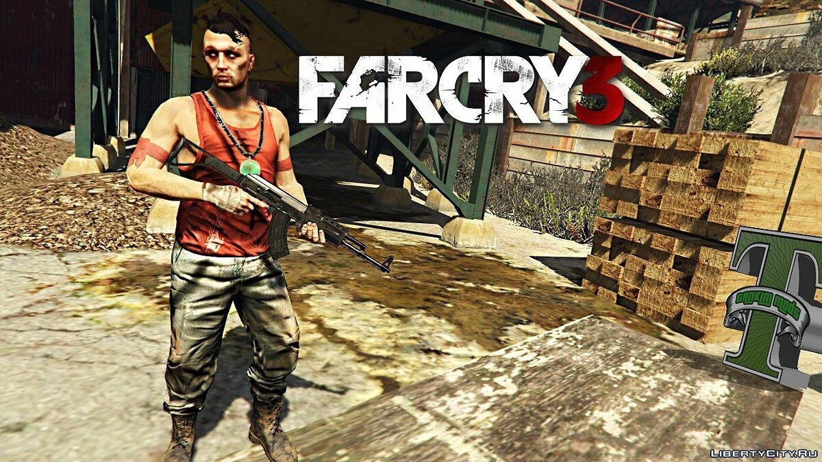 Far Cry 3 Vaas Ped model v4 для GTA 5