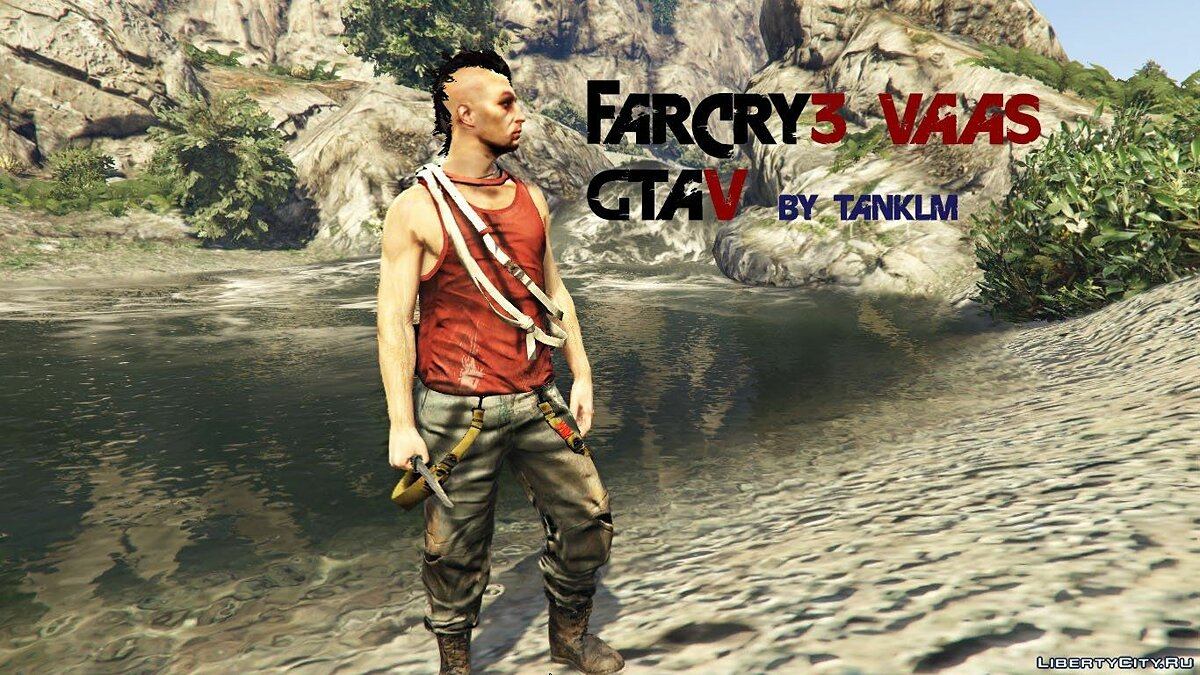 Far Cry 3 Vaas Ped model v4 для GTA 5 - скриншот #2