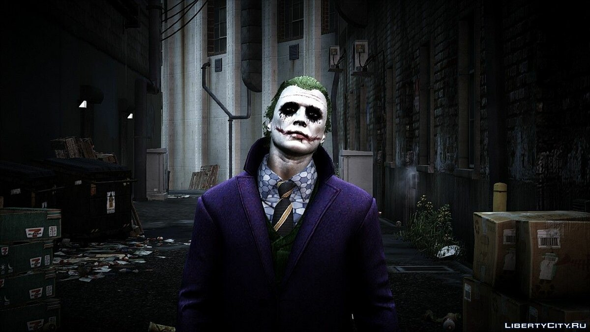 Heath Ledger Joker Skin Pack 3.0 для GTA 5