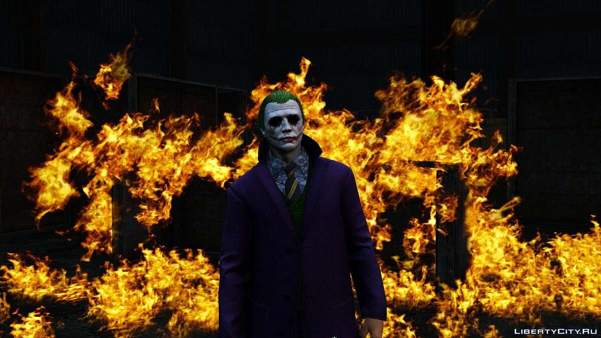 Heath Ledger Joker Skin Pack 3.0 для GTA 5 - скриншот #4