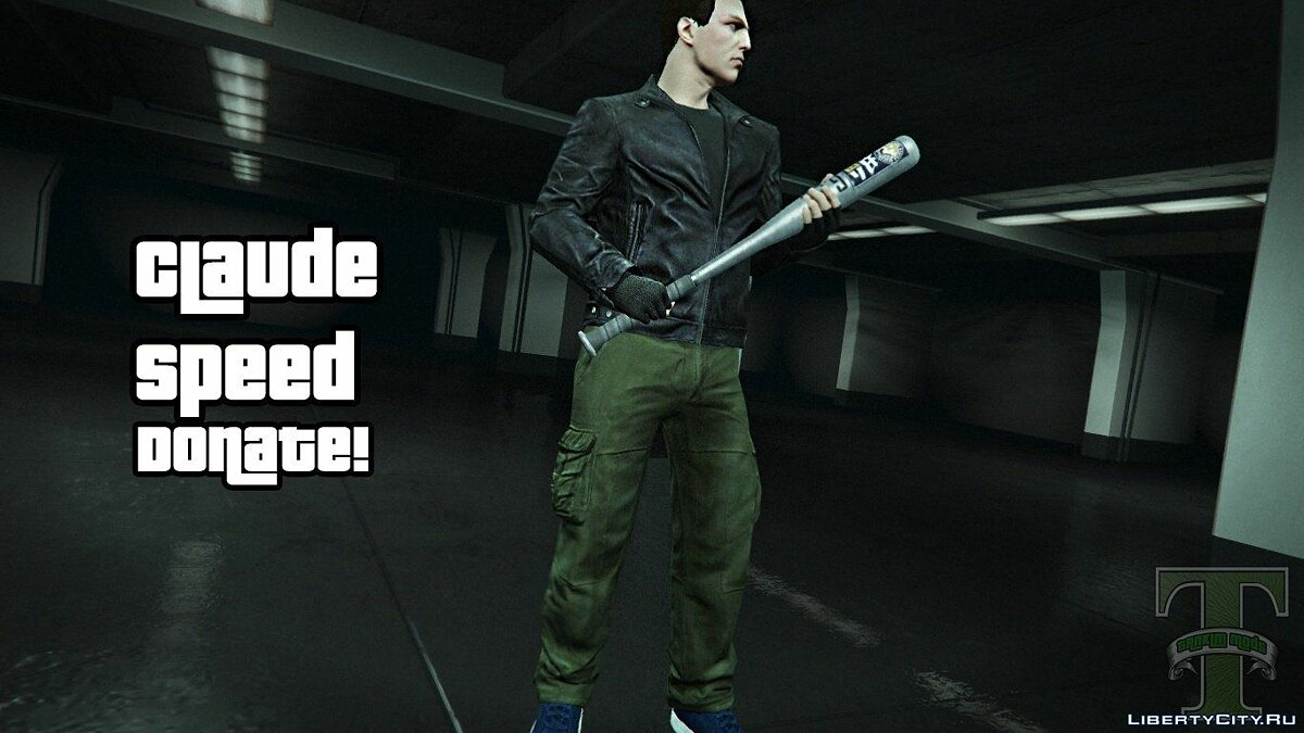 Claude Speed Ped model +new colthes v5 для GTA 5 - скриншот #3