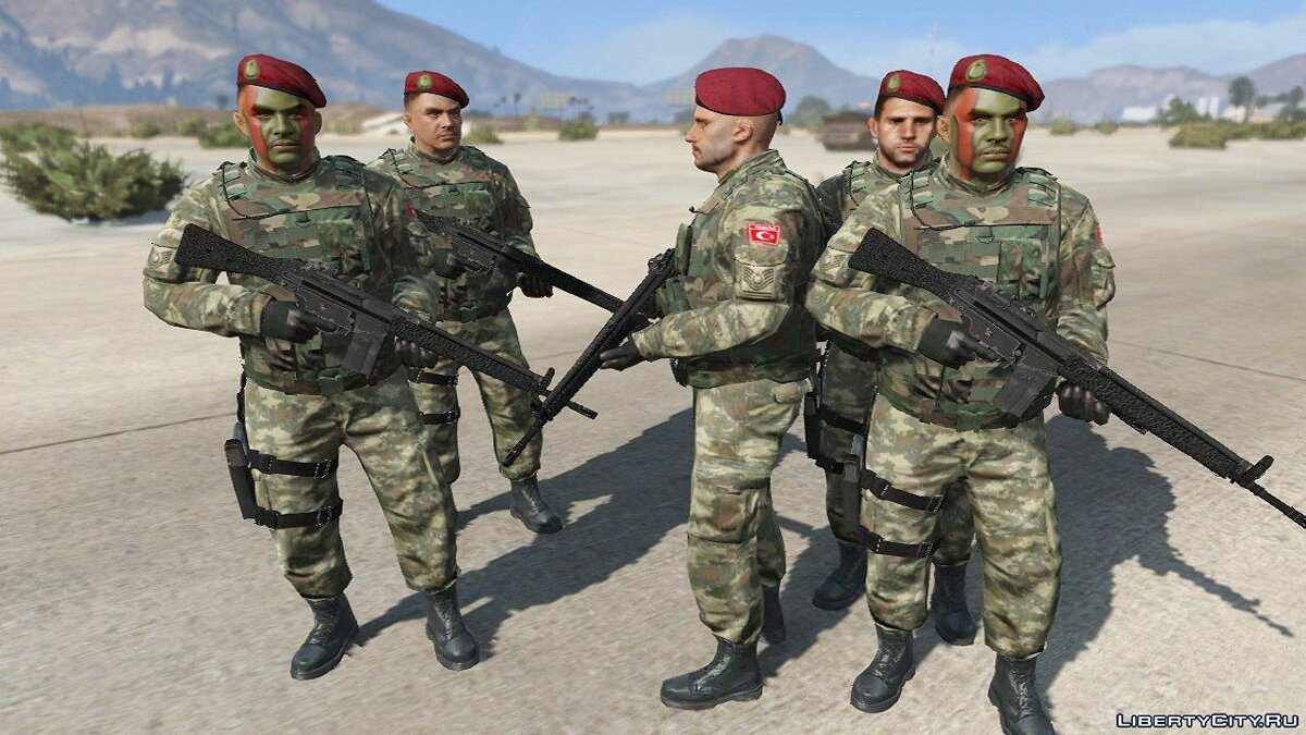 ��овый персонаж Turkish Army 1.0 для GTA 5