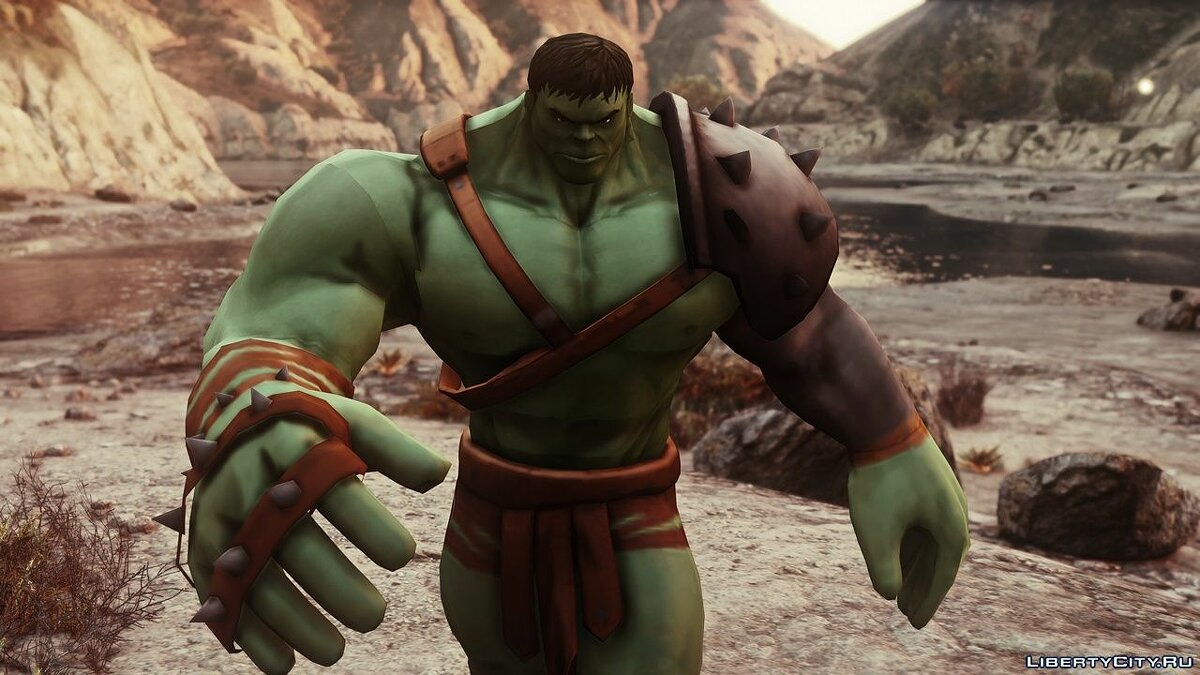Новый персонаж Gladiator Hulk (Planet Hulk) [Add-On Ped] 2.1 для GTA 5
