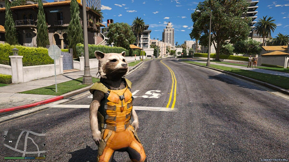 Новый персонаж Rocket Raccoon from Guardians of the Galaxy - Big & smalls version [Add-On / Replace PED] 1.0 для GTA 5