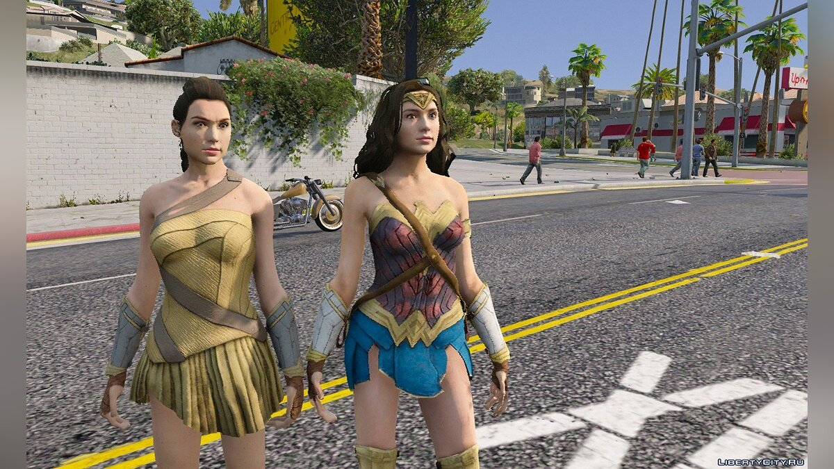 ��овый персонаж Wonder Woman 2017 [Add-On] 1.2 для GTA 5