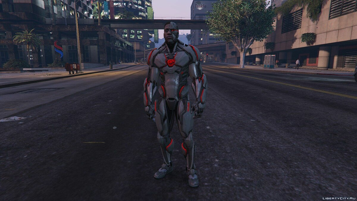 Новый персонаж Injustice 2 Mobile Cyborg [Add-On Ped] 1.0 для GTA 5