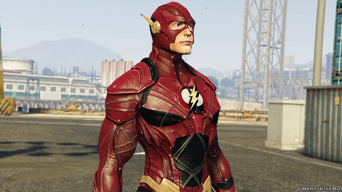 "Новый персонаж The Flash & SFX (Ezra Miller ""Justice League"" 2017) [Add-On / Replace Ped] 2.0  для GTA 5"