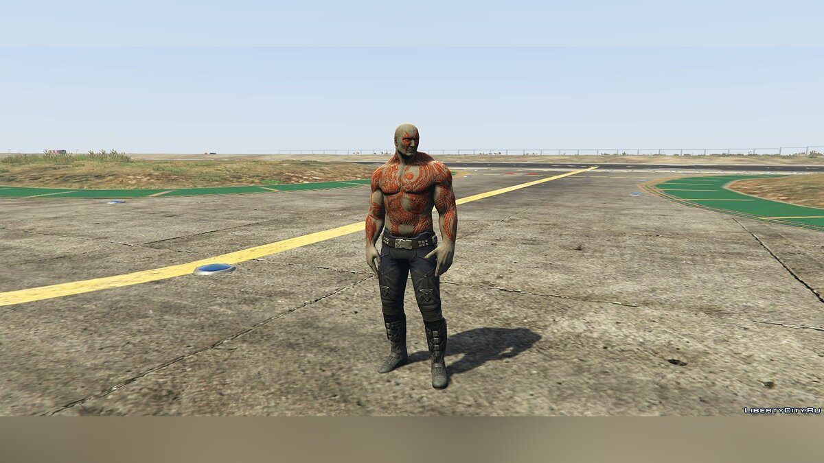 Новый персонаж Drax + Weapon: Guardians of the Galaxy для GTA 5
