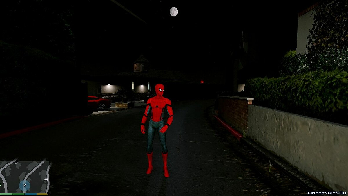 ��овый персонаж Spiderman [Add-On Ped] 2.2 для GTA 5