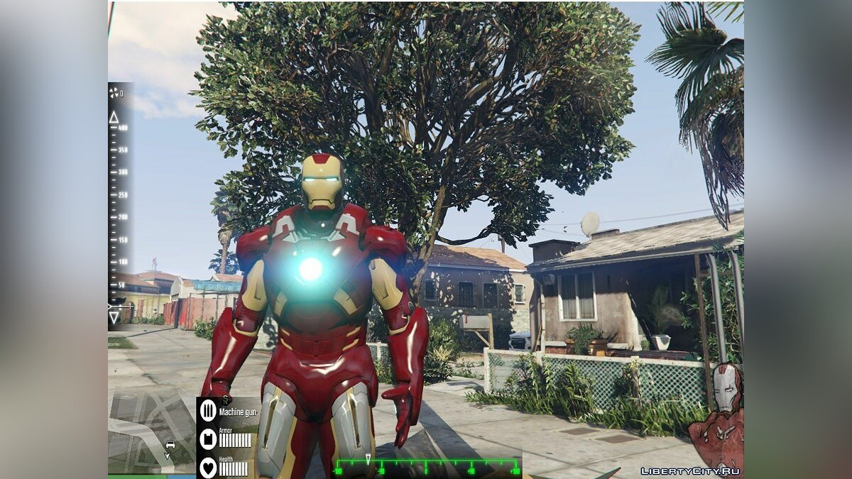 New Iron Man Mark 7 Armor (Emissive) для GTA 5 - скриншот #2