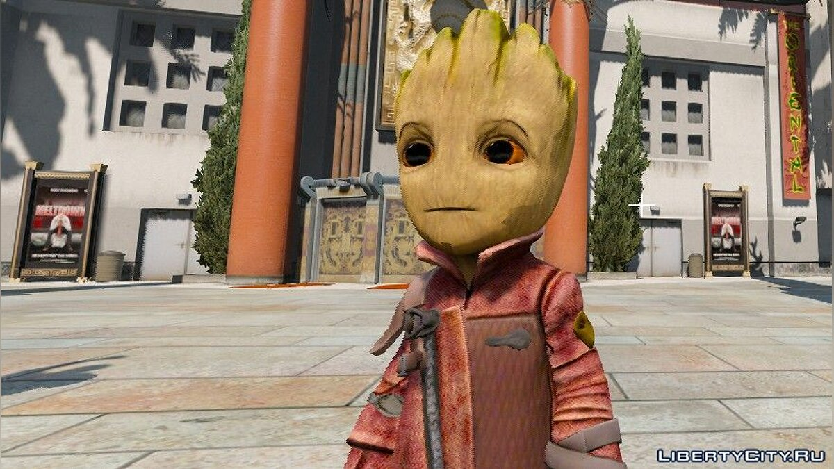 Baby Groot [Add-On ped] 1.0 для GTA 5