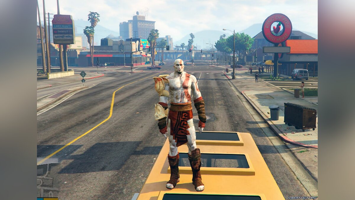 Kratos [Add-On Ped] для GTA 5