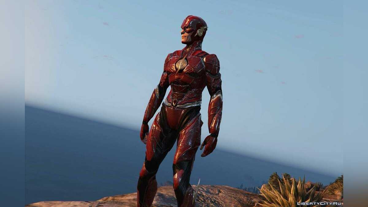 ��овый персонаж Justice League Flash 1.0 для GTA 5