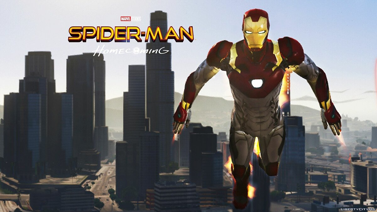Iron Man Mark 47 (Spider-man Home Coming) [Add-On Ped] 1.3 для GTA 5