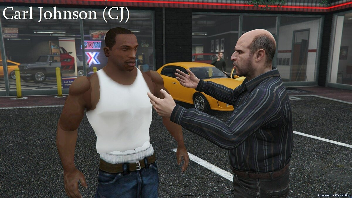 Carl Johnson для GTA 5