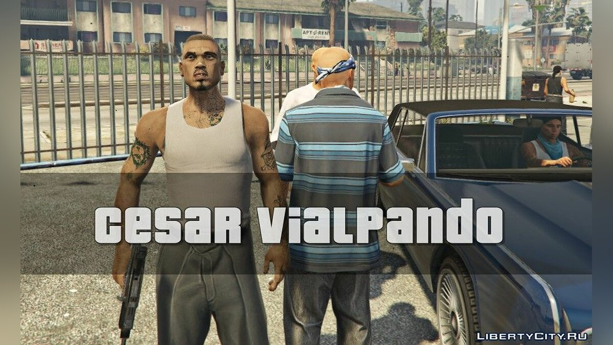 Новый персонаж Cesar VialpandoHD(Remake)GTA SA FINAL для GTA 5
