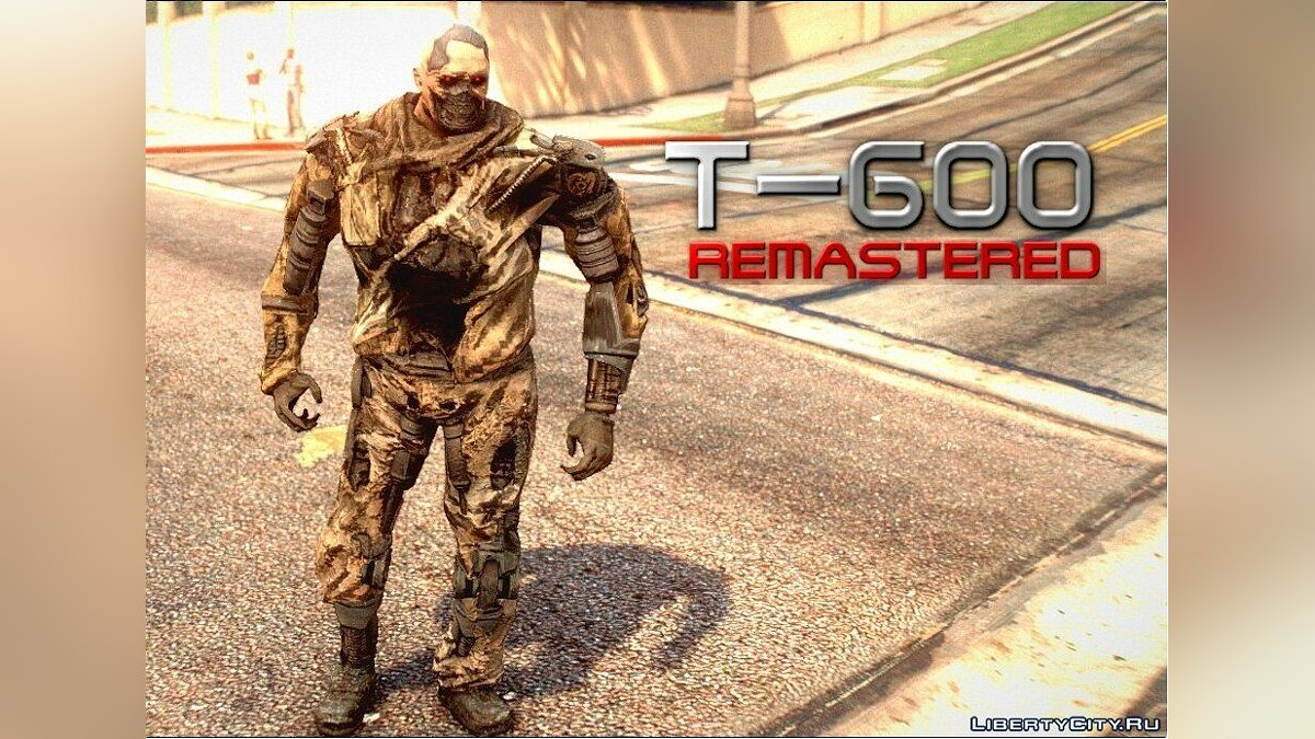 Новый персонаж Terminator T-600 Remastered (re-texture) v1.0 для GTA 5