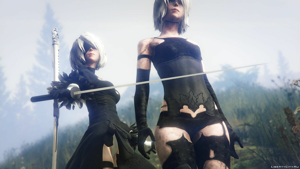 2B & A2 Nier:Automata [Add-On Ped / Replace] 1.0 для GTA 5 - скриншот #4