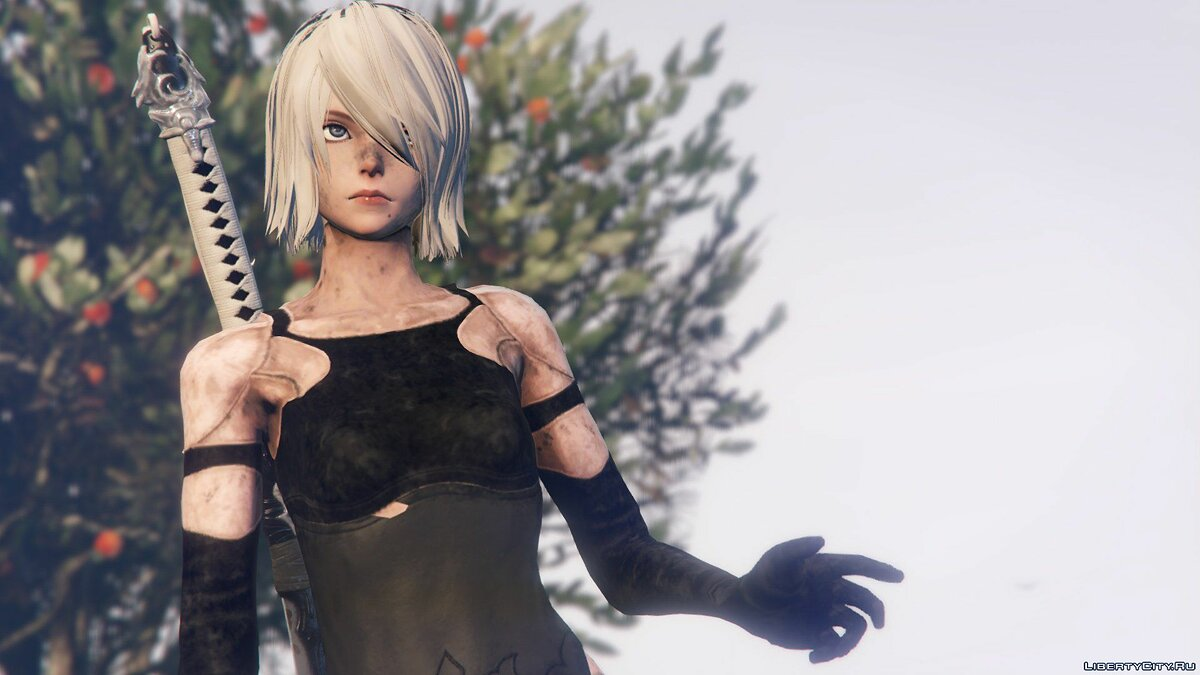 2B & A2 Nier:Automata [Add-On Ped / Replace] 1.0 для GTA 5 - скриншот #3