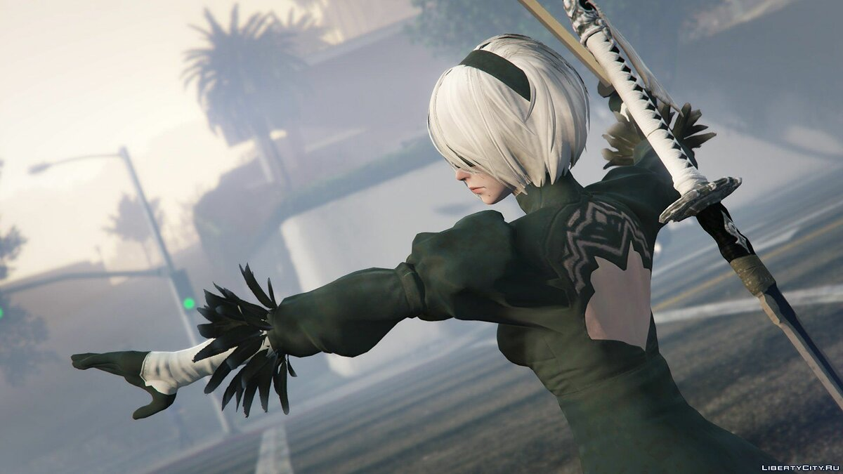 2B & A2 Nier:Automata [Add-On Ped / Replace] 1.0 для GTA 5 - скриншот #2