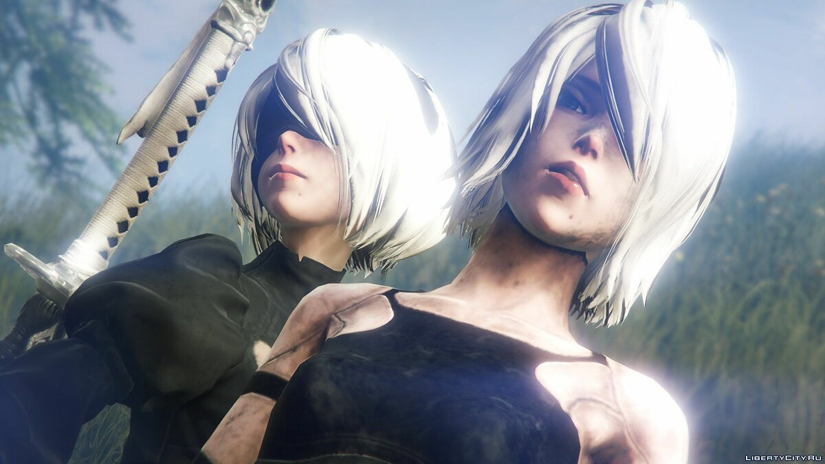 2B & A2 Nier:Automata [Add-On Ped / Replace] 1.0 для GTA 5 - скриншот #7