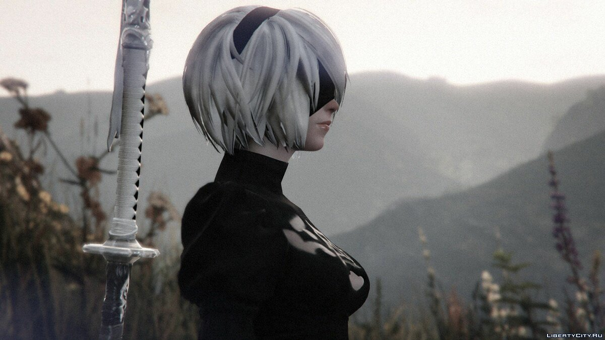 2B & A2 Nier:Automata [Add-On Ped / Replace] 1.0 для GTA 5 - скриншот #8