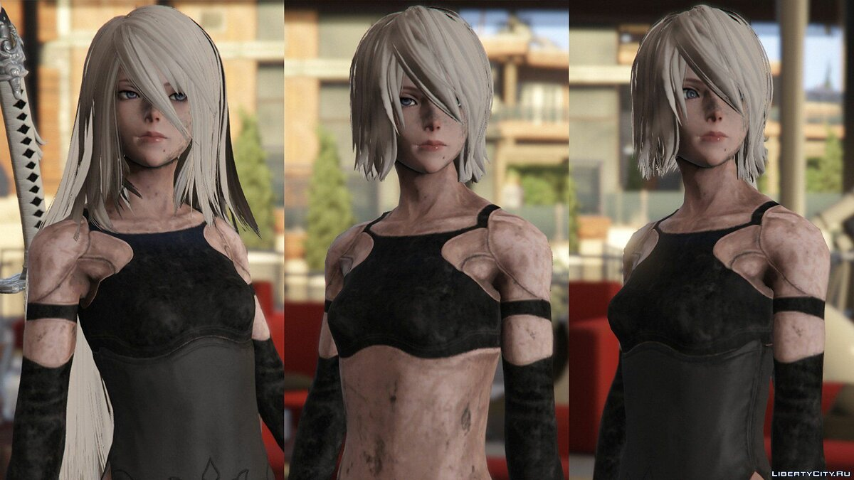 2B & A2 Nier:Automata [Add-On Ped / Replace] 1.0 для GTA 5 - скриншот #13