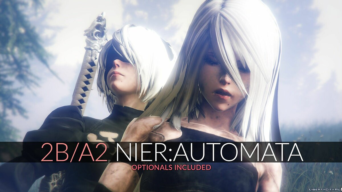 2B & A2 Nier:Automata [Add-On Ped / Replace] 1.0 для GTA 5