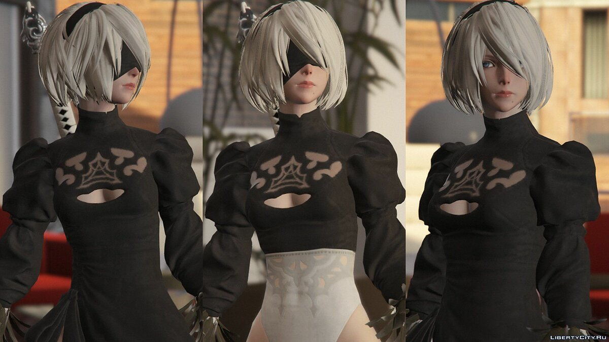2B & A2 Nier:Automata [Add-On Ped / Replace] 1.0 для GTA 5 - скриншот #12