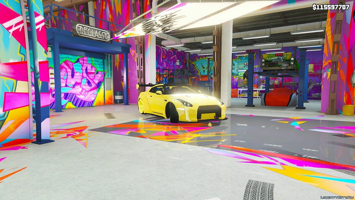 Машина Nissan 2014 Nissan GTR R-35 Liberty Walk Gold Edition (Replace) 1.0 для GTA 5
