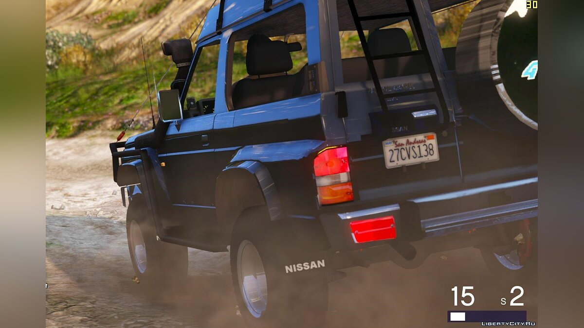 Nissan Patrol Y60 Off Road 1994 [Add-On / Replace | 7 Extras] 1.4 для GTA 5 - скриншот #6