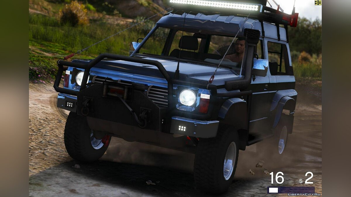 Nissan Patrol Y60 Off Road 1994 [Add-On / Replace | 7 Extras] 1.4 для GTA 5 - скриншот #7