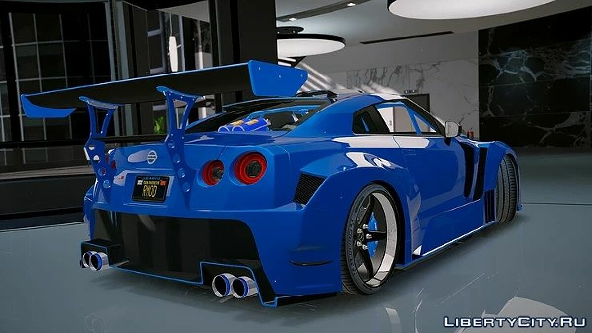 Nissan GT-R WideBodykit 1.0 для GTA 5 - скриншот #3