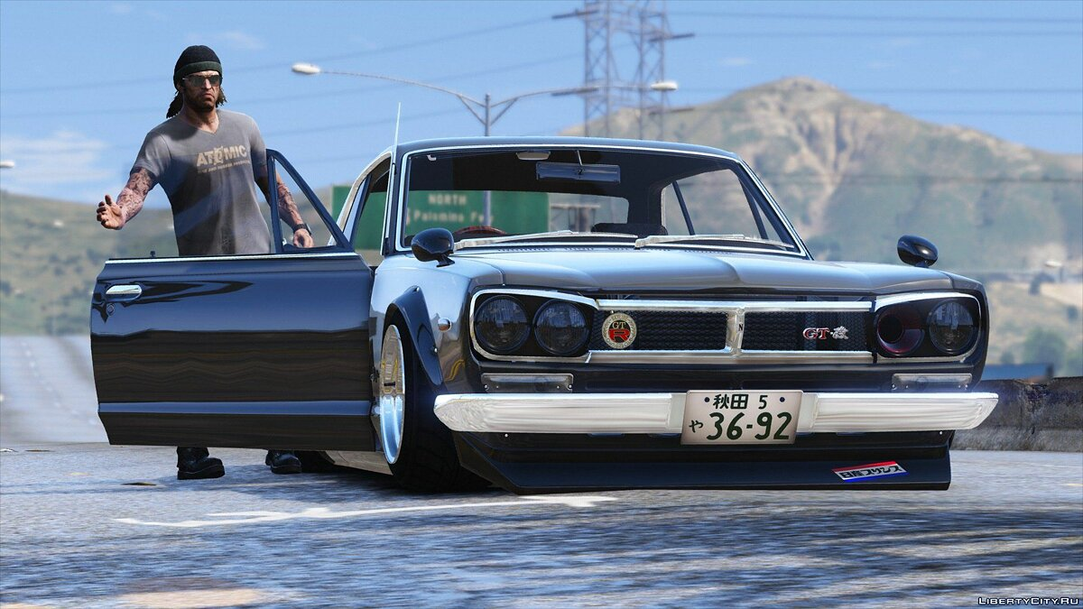 1971 Nissan Skyline KGC10 [Add-On / Replace] V2 для GTA 5 - скриншот #7