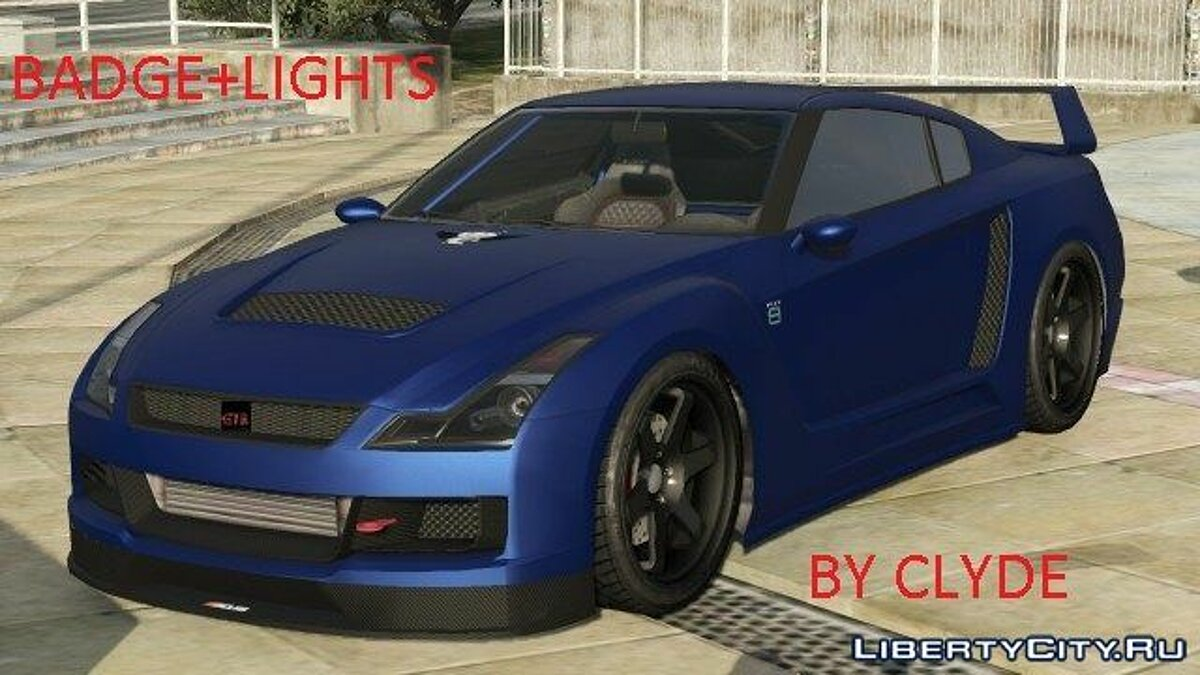 Машина Nissan Nissan GTR [badge+lights] by clyde 1.0 для GTA 5