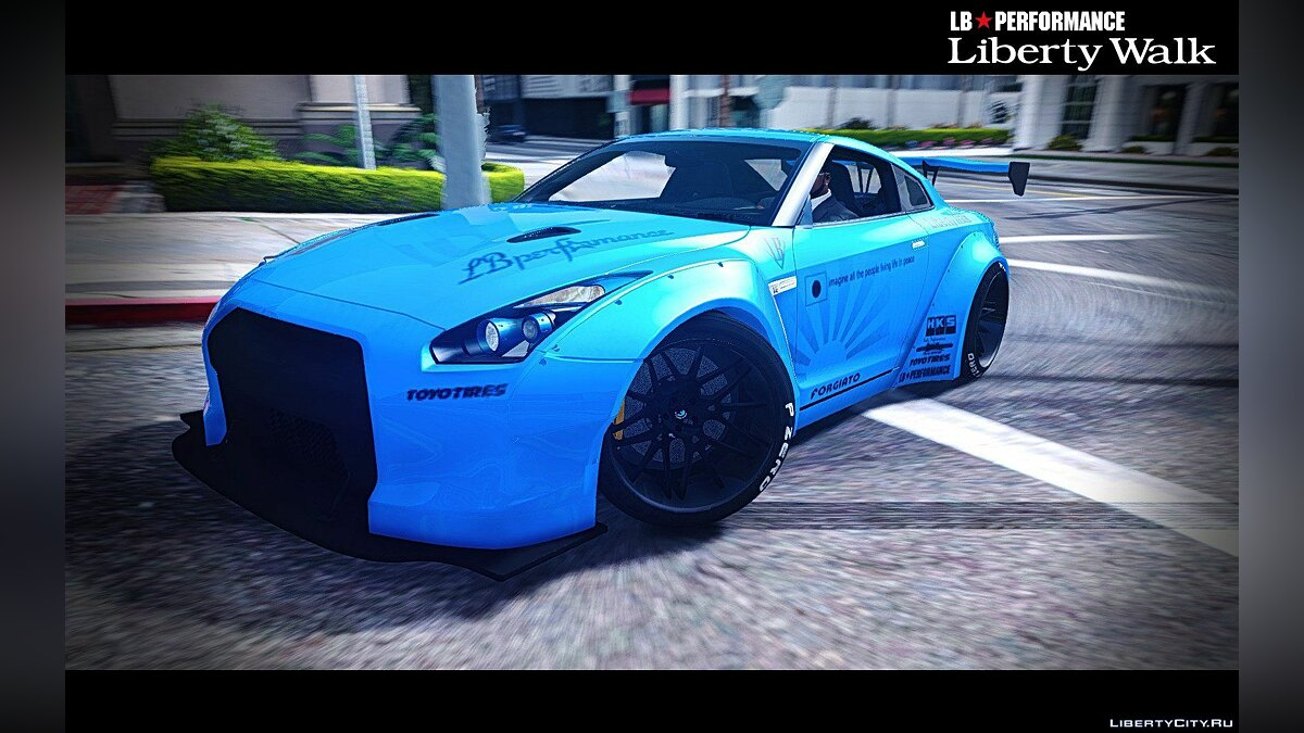 Nissan GT-R R35 Liberty Walk [Add-On / Replace] 1.0 для GTA 5