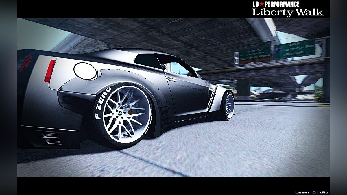 ��ашина Nissan Nissan GT-R R35 Liberty Walk [Add-On / Replace] 1.0 для GTA 5