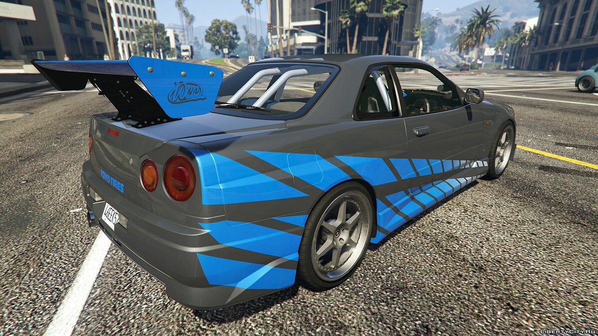 Машина Nissan Brian's NISSAN SKYLINE GT-R34 1999 (FAST&FURIOUS) [Add-On] 1.0 для GTA 5