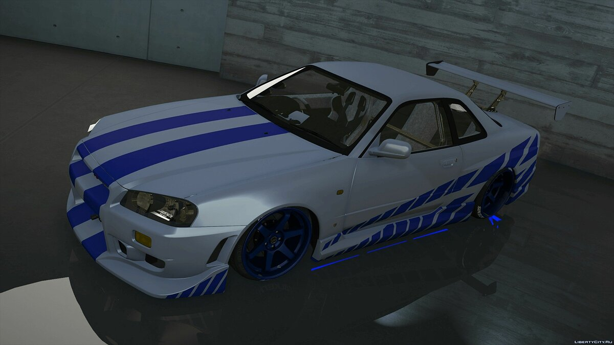 1999 C-West Nissan Skyline GT-R (BNR34) [Add-On / OIV / Animated Engine / RHD] 1.1 для GTA 5