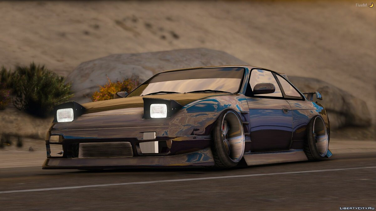 Машина Nissan 1994 Nissan 240sx S13 Front End [Add-On / Replace / RHD] 1.0 для GTA 5